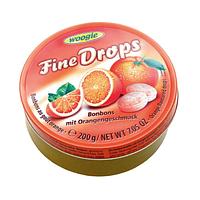 Леденцы со вкусом апельсина Woogie Fine Drops orange Drops 200 g