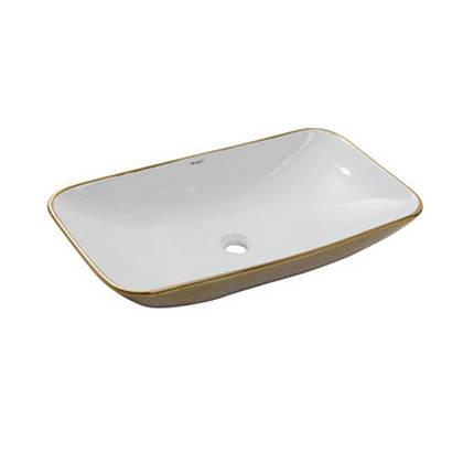 Умывальник NEWARC Countertop 70 (5019GW) золото/белый, б/п, (40*70*13.5), фото 2