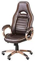Кресло офисное Aries brown, коhичневое
