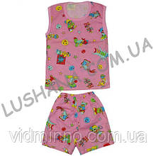 Комплект безрукавка и шорты на рост 104-116 см - Кулир