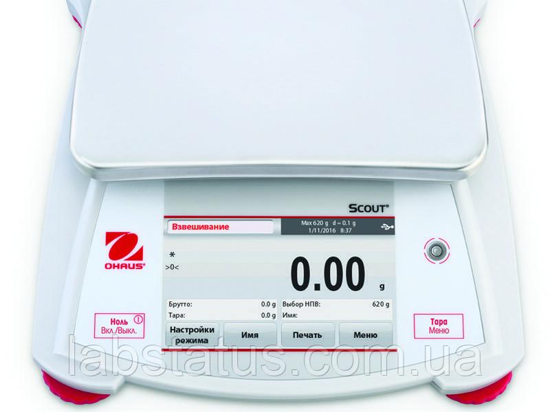 Весы лабораторные Scout STX2202 (2200г, дискр. 0,01г)