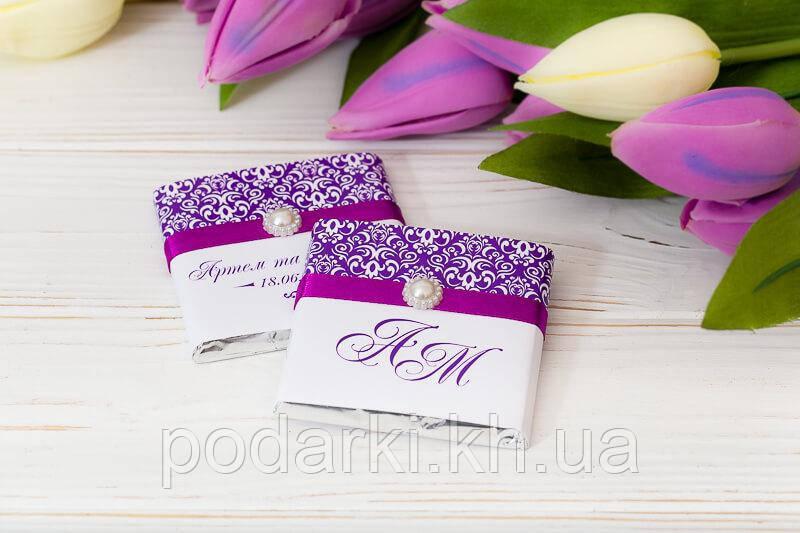 Подарок гостям на свадьбу из шоколада