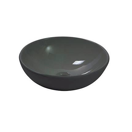 Умывальник NEWARC Countertop 41 (5010B) черный, б/п, (41*41*14.5), фото 2