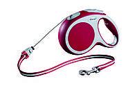 Рулетка Flexi Vario для собак трос S, 8 м/15 кг