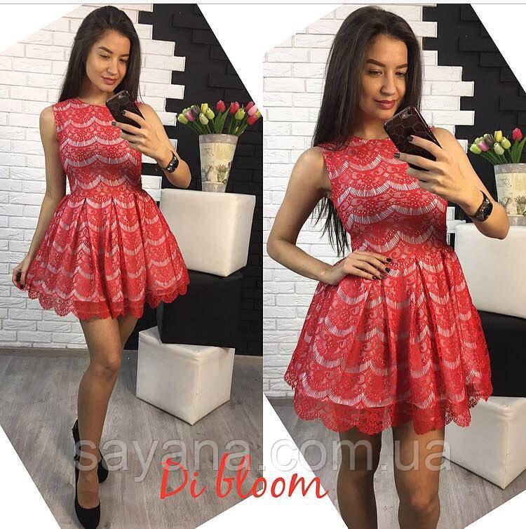 Шикарное женское платье в расцветках. Ю-108-0417