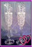 Свадебные бокалы Версаль 005, цвета в ассортименте, фото 2