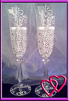 Свадебные бокалы Версаль 005, цвета в ассортименте Белый