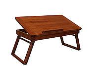 Столик для ноутбука и завтрака в постель ручная работа из натурального дерева