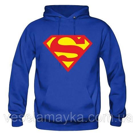 """Толстовка """"Superman"""". Кенгурушка (кофта) с логотипом супермена."""