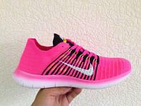 Женские кроссовки Nike Free Run 5.0 Flyknit розовые