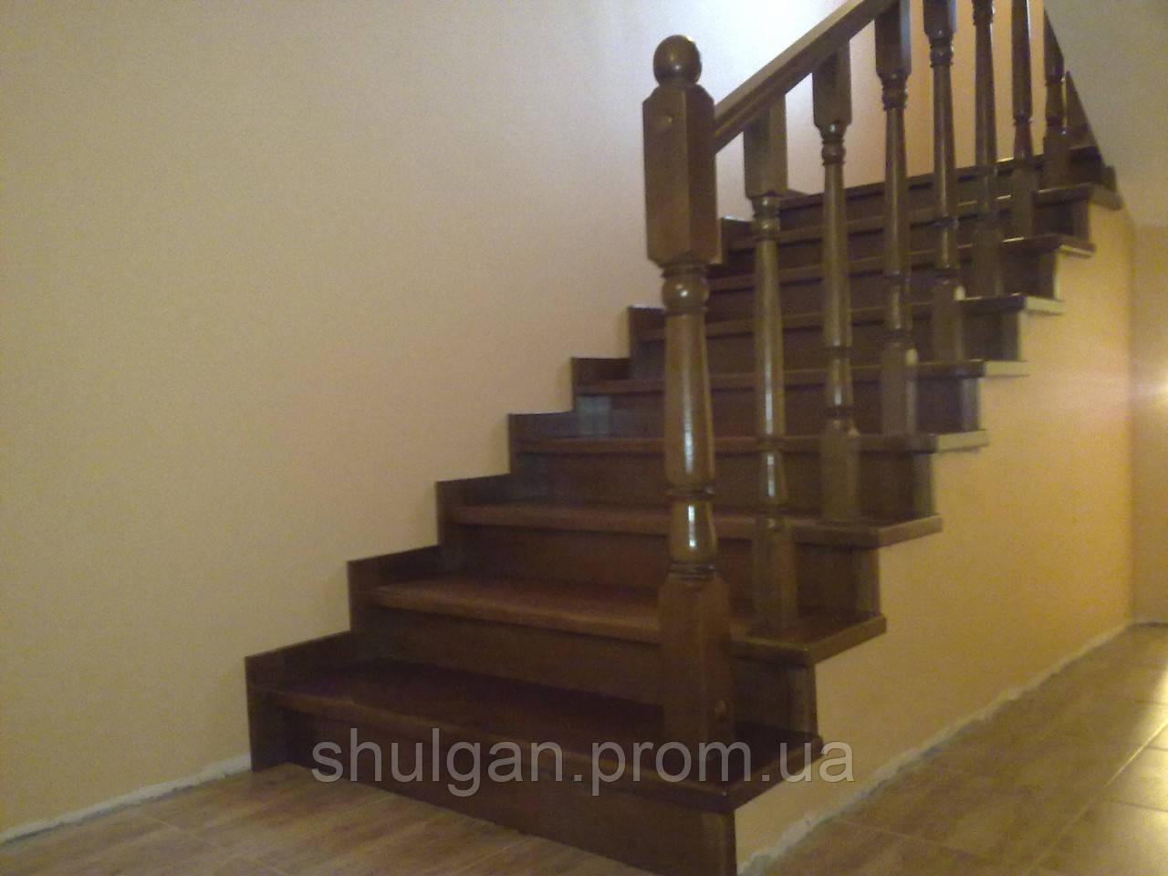 Лестница по бетону, 4 марша - Дерев'яні двері, сходи, меблі / Деревянные двери, лестницы, мебель в Волынской области