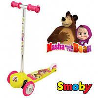 Самокат трехколесный Маша и медведь Twist - Smoby - Франция - удобные ручки