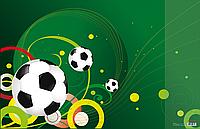 """Підкладка для письма """"Футбол"""" з карманом, 665x430мм, PVC"""