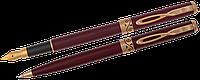 Комплект ручок (П+К) в оксамитовому футлярі Н, бордо