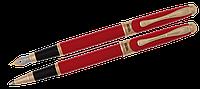 Комплект ручок (П+Р) в оксамитовому футлярі H, червоний