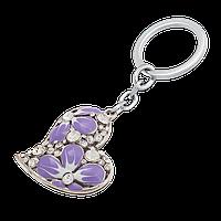 """Набір подарунковий """"Heart"""": ручка кулькова + брелок, фіолетовий"""