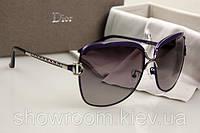 Женские брендовые солнцезащитные очки  (8702) фиолетовая оправа, фото 1