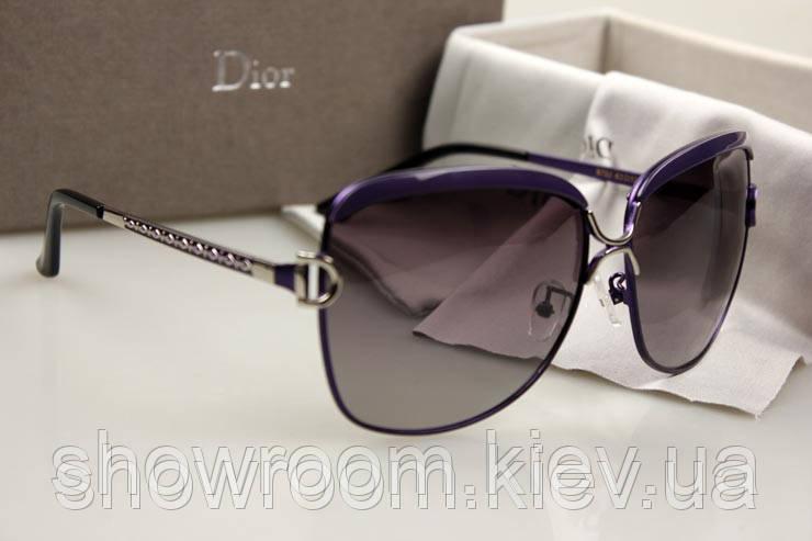 Женские брендовые солнцезащитные очки  (8702) фиолетовая оправа