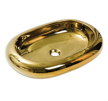 Умывальник NEWARC Elips countertop 67 (5012G) золото, б/п, (67*43*15), фото 2