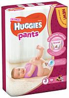 Подгузники-трусики Huggies Pants для девочек  3 (6-11 кг), 58 шт.