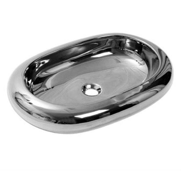 Умывальник NEWARC Elips countertop 67 (5012CR) серебро, б/п, (67*43*15)