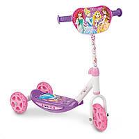 Самокат трехколесный Disney Princess - Smoby - Франция - с силиконовыми колесами и мягкими резиновыми ручками