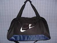 Багажная сумка 013674 большая (55х33х22, см) черная с синим спортивная дорожная текстиль