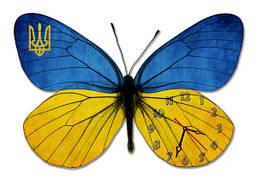 Часы- картина бабочка