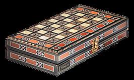 """Набір подарунковий з шахів, нард та шашок """"Antique"""" 29,5*15,6*5.4см з дерева, бук"""