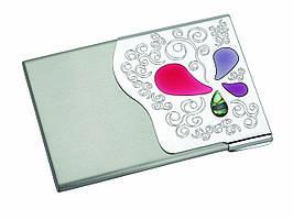 """Візитниця """"Pearl"""", металева, з мозаїкою, в подарунковій упаковці"""