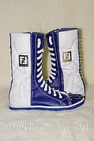Ботинки женские IK-304 (белый+синий), фото 1