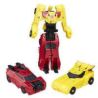 Hasbro TRA Трансформеры Роботс-ин-Дисгайс: Крэш-Комбайнер  Sideswipe i Bumblebee