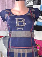 """Футболка на девочку """"Burberry"""" поросток р.40-42"""