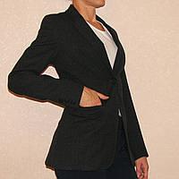 Деловой пиджак темно-серого цвета р.42 шерсть