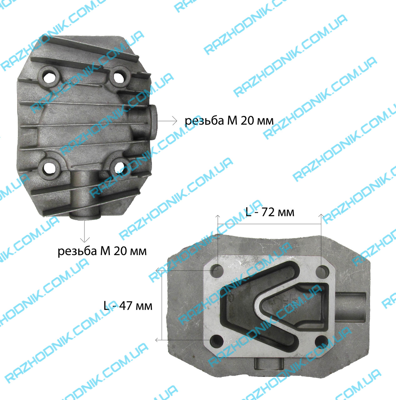Крышка цилиндра для компрессора 2 тип