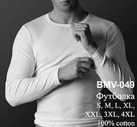 Бельё Atlantic. Футболка мужская с длинными рукавами BMV-049
