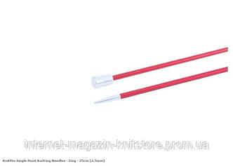 Спицы прямые Zing KnitPro | 35 см | 2.5 мм