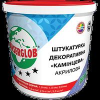 Штукатурка декоративная акриловая Anserglob  «Камешковая» (белая) зерно: 1,0мм;1,5мм; 2мм