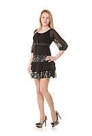 Женское черное коктейльное платье  Nua Shiman
