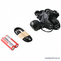 Фонарь на лоб Police 02-T6, 2 ак.18650, micro USB