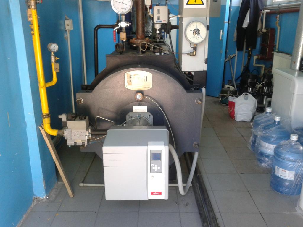 Сервисное обслуживание котельного оборудования марки Ferolli и газовой горелки Elco (завод по производству сливочного масла)