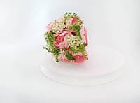 Букет розы пионовидные розовые