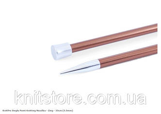 Прямі спиці Zing KnitPro | 35 см | 5.5 мм