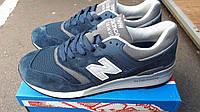Мужские кроссовки большие New balance 997 encap замша натуральная