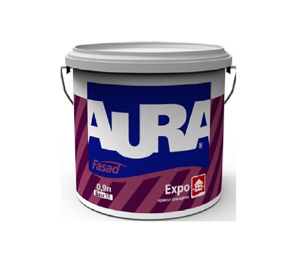 Краска акриловая AURA FASAD EXPO фасадная транспарентная-база TR 0,9л