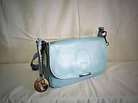 Женский кожаный клатч Furla голубого цвета