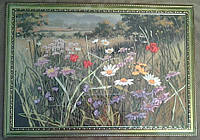 """Картина вышитая лентами """"Степные цветы"""""""