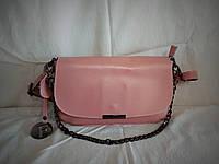 Женский кожаный клатч Furla цвета пудры