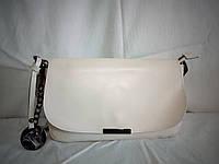 Женский кожаный клатч Furla молочного цвета