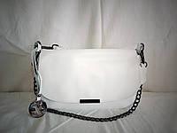 Женский кожаный клатч Furla белого цвета